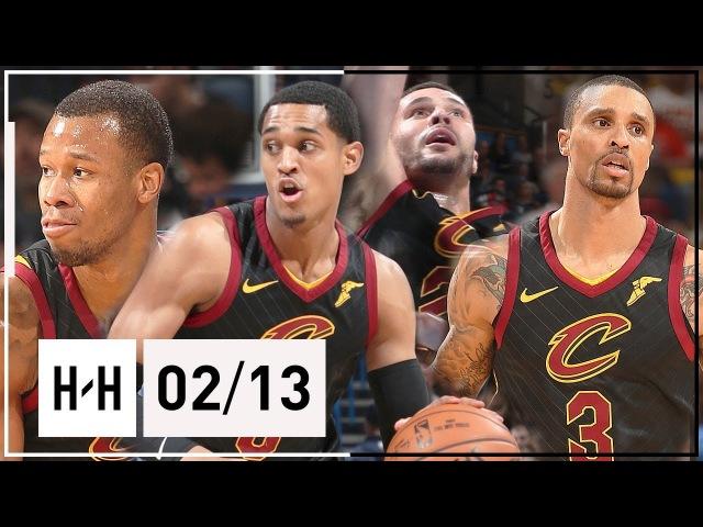 Cavaliers NEW Players Full Highlights vs Thunder 2018 02 13 Clarkson Hill Hood Nance Jr