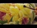Pintura en porcelana: Tutorial de Pintura en porcelana: Orquídeas sobre placa oval.