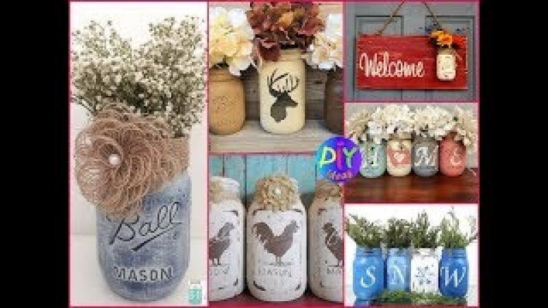 Rustic Mason Jar Crafts Ideas to Make Sell - DIY Mason Jar Decor
