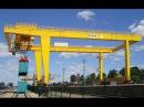 Контейнерный кран на рельсовом ходу RMG компании БАЛТКРАН RMG crane of BALTKRAN