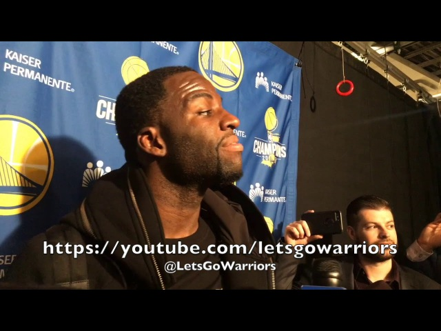 Entire DRAYMOND GREEN postgame: jokes he's rooting against Tom Brady (Michigan grad) in Superbowl