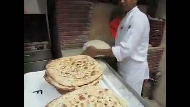 Making Iranian Bread in Kuwait