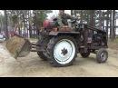 Ковш на самодельный трактор испытание на щебне
