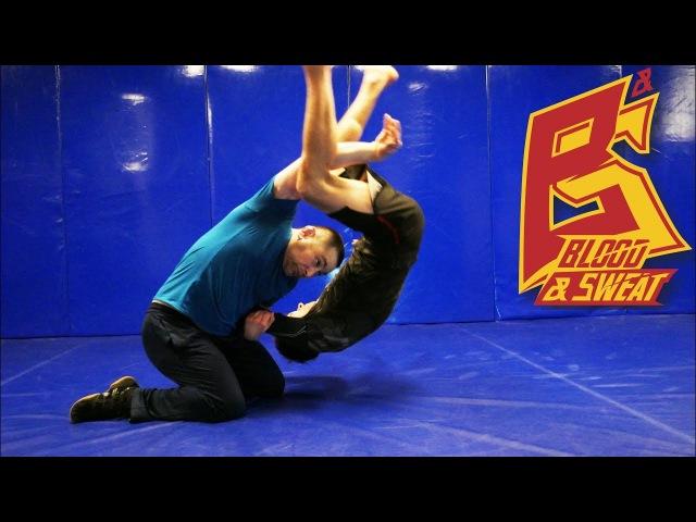 Мельница с колен - бросок через плечи - техника и ошибки - вольная борьба грэпплинг
