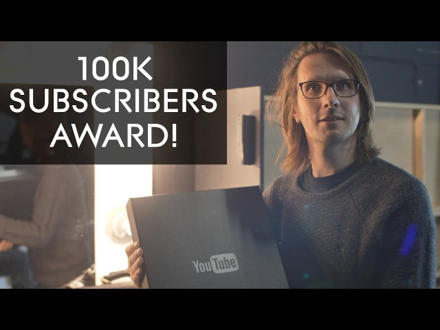 100k Subscribers Award from YouTube!