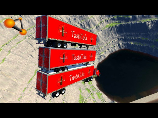 BeamNG.drive - Leap Of Death Car Jumps Falls Into Huge Coca Cola Pool 2