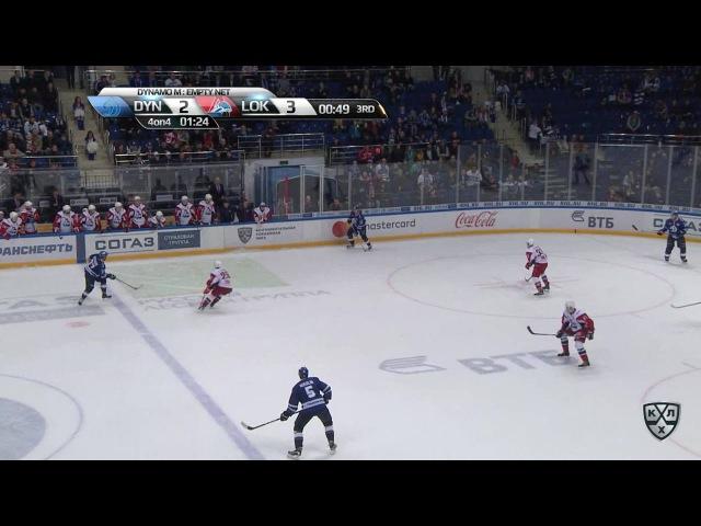Моменты из матчей КХЛ сезона 16/17 • Гол. 3:3. Мэт Робинсон (Динамо) сравнял счёт на последней минуте третьего периода 26.09
