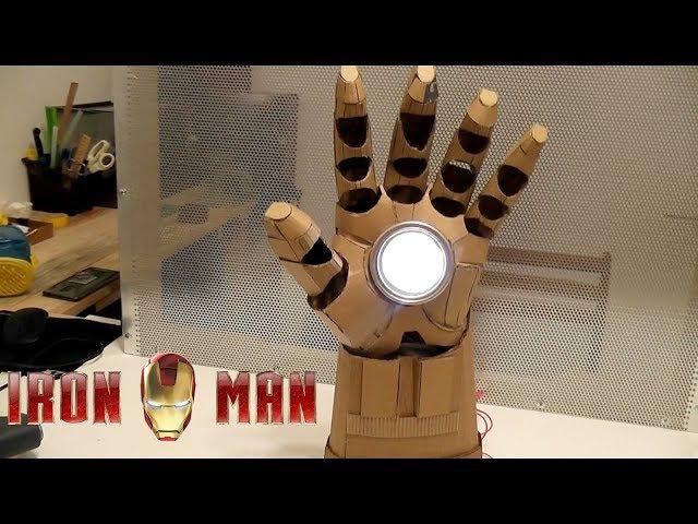 Как сделать светильник Рука Железного человека из картона