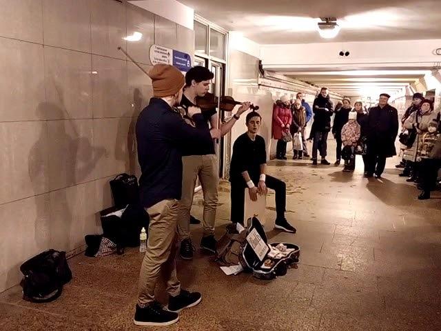 CheerUp Music - Linkin Park Numb violin cover (17.11.2017, SPb, Kupchino subway)