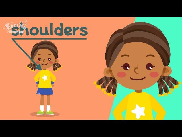Дети словарный запас для тела части тела Изучение английского языка для де
