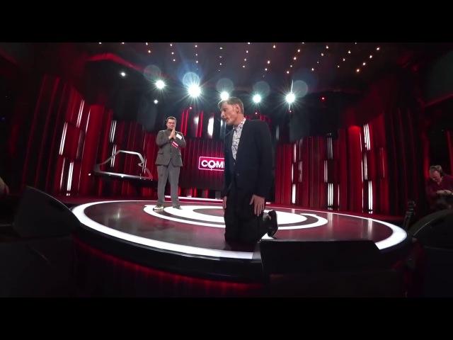 Павел Воля на коленях просит прощения у Никола Соболева в Comedy club