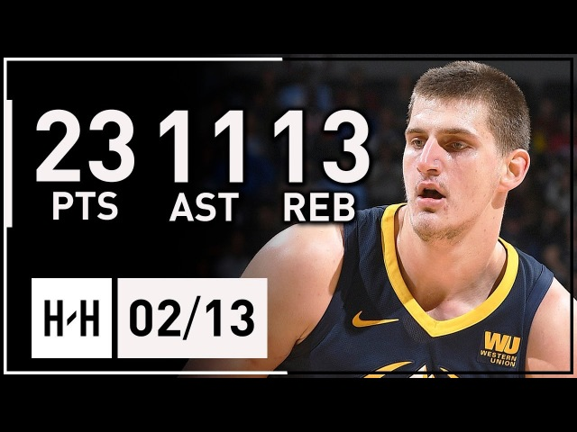Nikola Jokic Triple-Double Highlights Nuggets vs Spurs (2018.02.13) - 23 Pts, 13 Reb, 11 Assists
