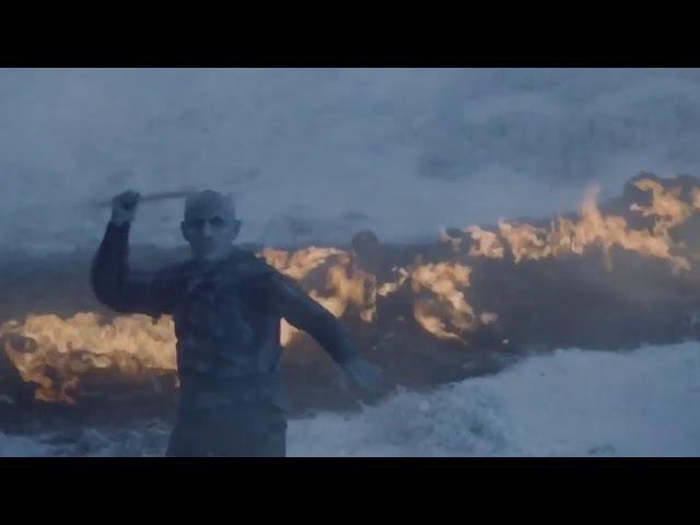 Смерть Визериона. Король Ночи убивает дракона Визериона. Игра Престолов 6 серия 7...