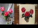 Мастер класс живописи акварелью Написание роз
