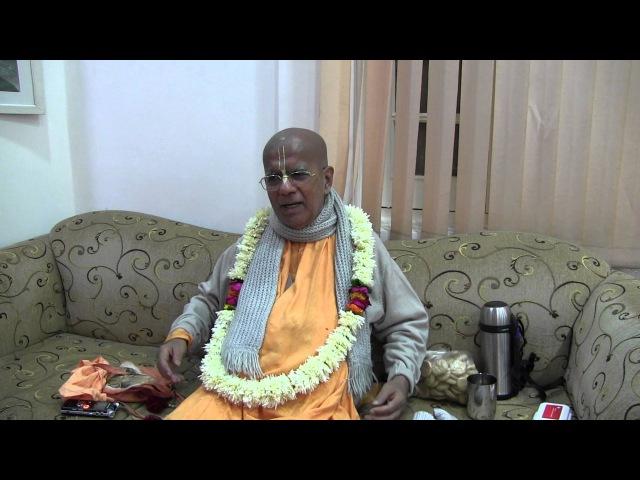 H.H. Gopal Krishna Goswami, Darshan, Vrindavan, 24.11.2015