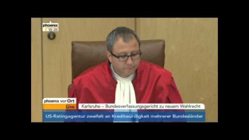 Urteil Bundesverfassungsgericht zum neuen Wahlrecht am 25.07.2012