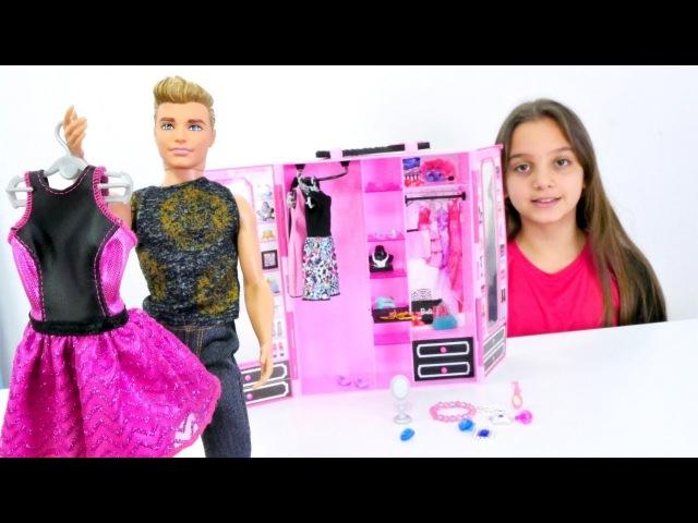 Barbie kıyafet alışverişinde 👗👛👠 Barbie ve Ken oyunları. Bebek giydirme oyunları izle