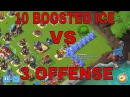 Boom Beach - 10 boosted ice and 7 boosted taken out with just 3 OFFENSE with HZB and Cryo