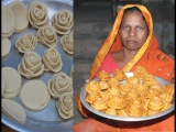 Delicious and sweet golap pitha recipe Village food