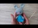 Как вышить глаза вязаному зайцу или кукле крючком