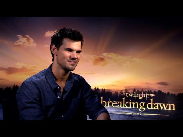 Breaking Dawn 2 Taylor Lautner Interview