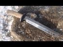 Bladesmithing forging a modern tanto combat knife
