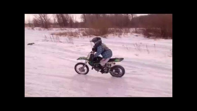 MOTOCROSS / KIDS / ПЛОСКИЙ ПОВОРОТ / ТРЕНИРОВКА / Женя 7мь лет