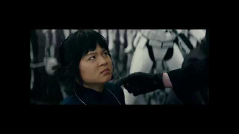 Rose bites Hux's finger The Last Jedi Deleted Scene