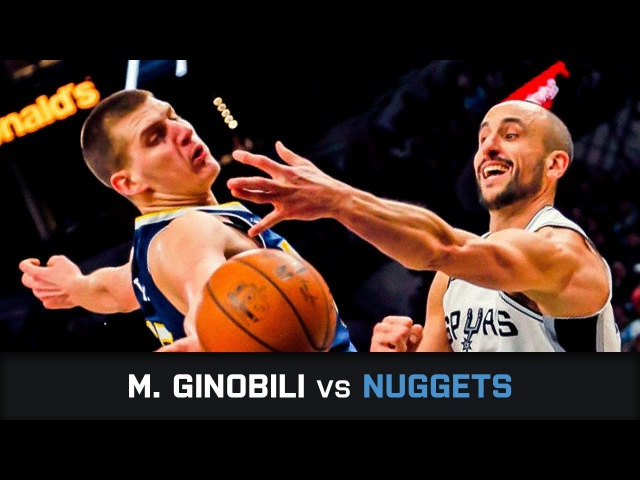 Manu Ginobili's Highlights 14 PTS 4 AST 1 BLK 3 threes Clutch vs Nuggets 30 01 2018