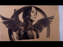 Drawing Katniss Everdeen - Hunger Games Mockingjay Pt 2
