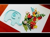Paper Quilling Flower For beginner Learning Video 27 Paper Flower Card Thank you card!