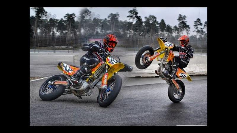 SoS | THIS IS SUPERMOTO ! Trackday | Racing | Drifts, Wheelies Crashes | GoPro Hero 4