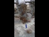 поджигание зажигалки экскаватором