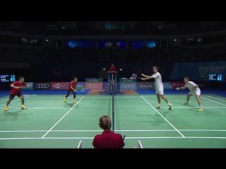 Dubai 2017 Day 3 MD: Kamura/Sonoda vs Conrad-Petersen/Kolding - бадминтон