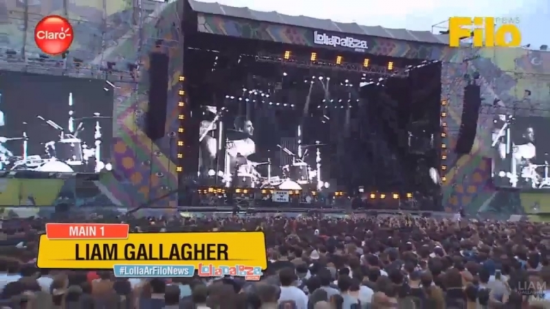 BE HERE NOW Liam Gallagher en Lollapalooza Argentina Marzo 17 2018