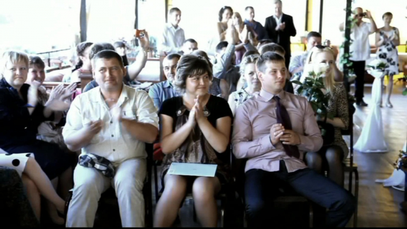 ролик HD свадьба банкет с использованием системы стабикам