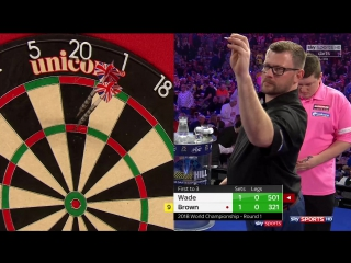 James Wade vs Keegan Brown (PDC World Darts Championship 2018 / Round 1)