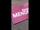 Shawn Mendes' dressing room for the EMAs 2017 and Camila Cabello's dressing room is opposite to his.
