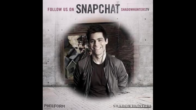 Friend us on Snapchat at 'ShadowhuntersTV' as we live post during tonight's all new Shadowhunters.