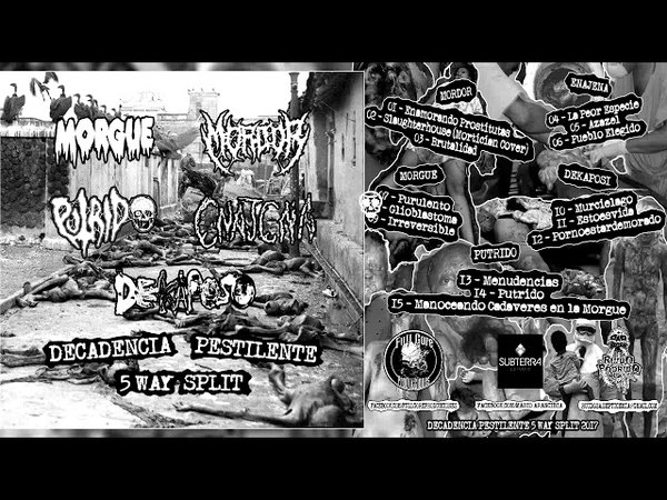 Decadencia Pestilente - 5 Way Split FULL ALBUM (2017 - Deathgrind / Grindcore / Goregrind)