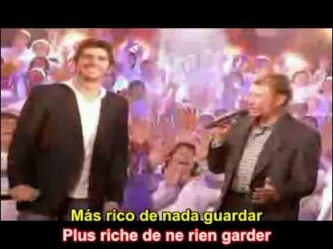 Vivre Pour Le Meilleur - Patrick Fiori / Johnny Hallyday - Avec Paroles / Lyrics / Sub. Español