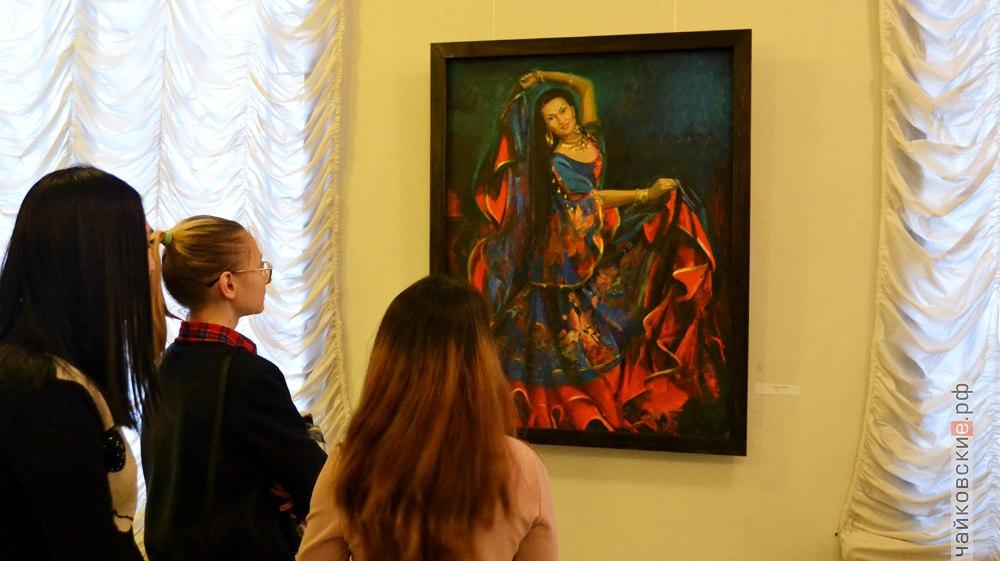 открытие выставки Диалог, Елена и Олег Чертковы, Чайковская художественная галерея, 2017 года