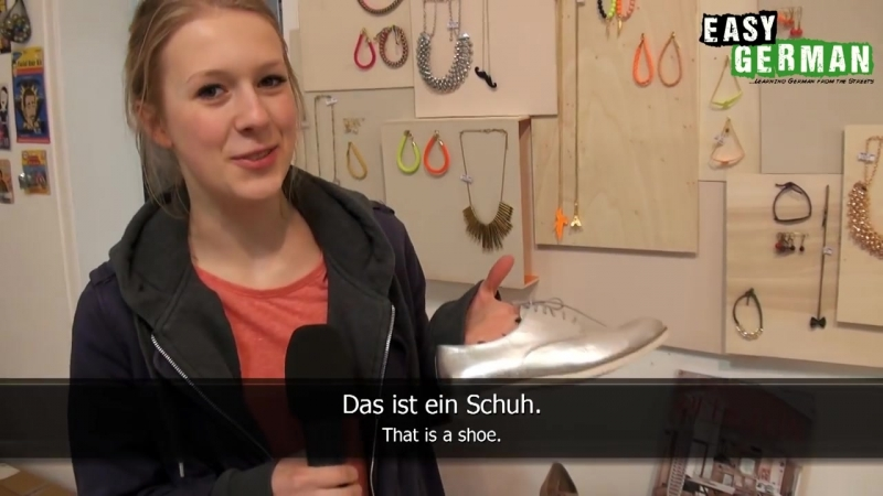 Pia and Lisa go shopping _ Easy German 85