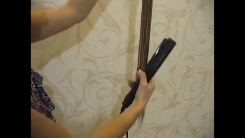 Как выпрямить ненатуральные волосы из термоволокна.