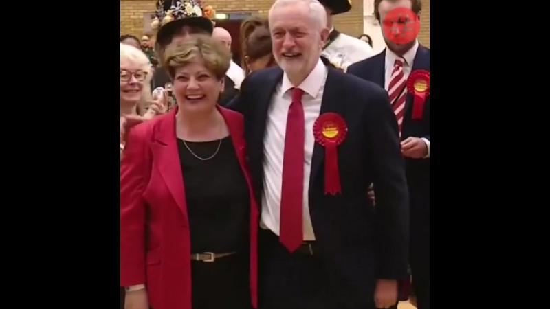 Jeremy Corbyn celebrates a fantastic election night with one of the worst high fives ever