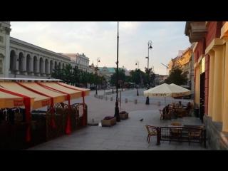 Утро Старый город Варшава Польша Poland