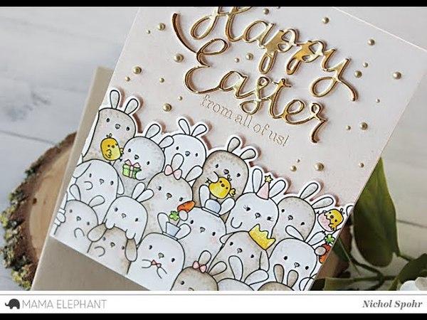 Mama Elephant | Elegant Easter Card (The Bunny's Hop)