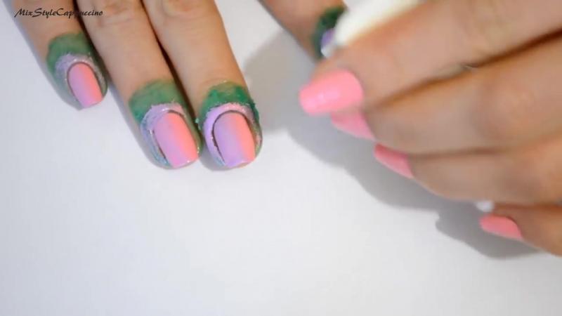 Ombre Gradient Nails Tutorial _ Маникюр Омбре или Градиент на ногтях не пачкая к