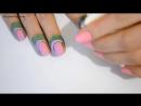 Ombre Gradient Nails Tutorial Маникюр Омбре или Градиент на ногтях не пачкая к
