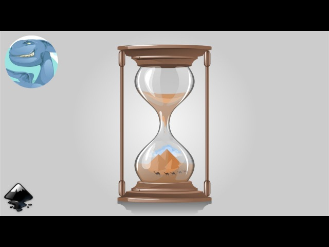 How to draw an hourglass in Inkscape